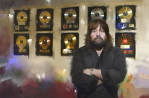 Brian Wheat photographed at J Street Recorders, his state-of-the-art recording studio in Sacramento.