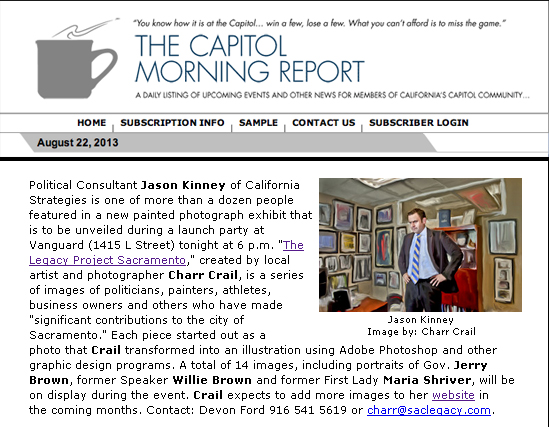 Capitol Morning Report, August 22, 2013
