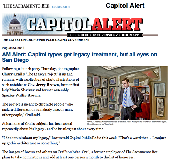 Sacramento Bee, Capitol Alert August 23, 2013